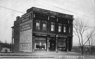 One of the first commercial buildings on Washington Road just north of Alfred Street, in what would become Mt. Lebanon's central business district. This picture was taken about 1915.
