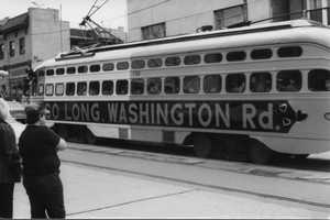 The last trolley traveled Washington Road on April 14, 1984. In recognition of the event, the community held a Trolley Day celebration.