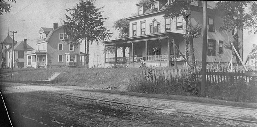Before it was the community's central business district, Washington Road between Cedar Boulevard and Academy Avenue was a residential area.
