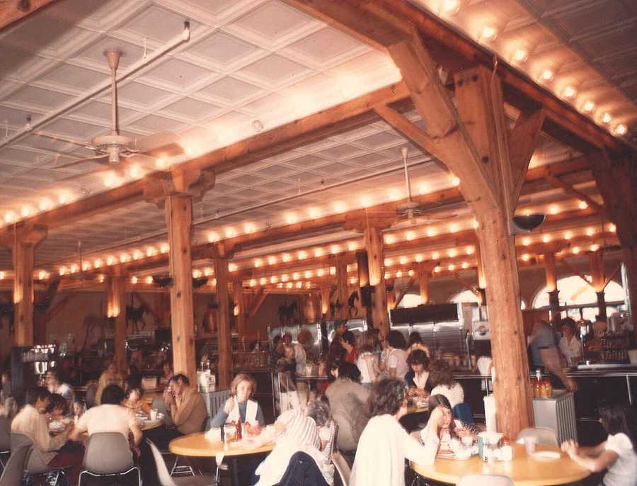 A look inside the cafeteria prior to major renovations in the 2000s.