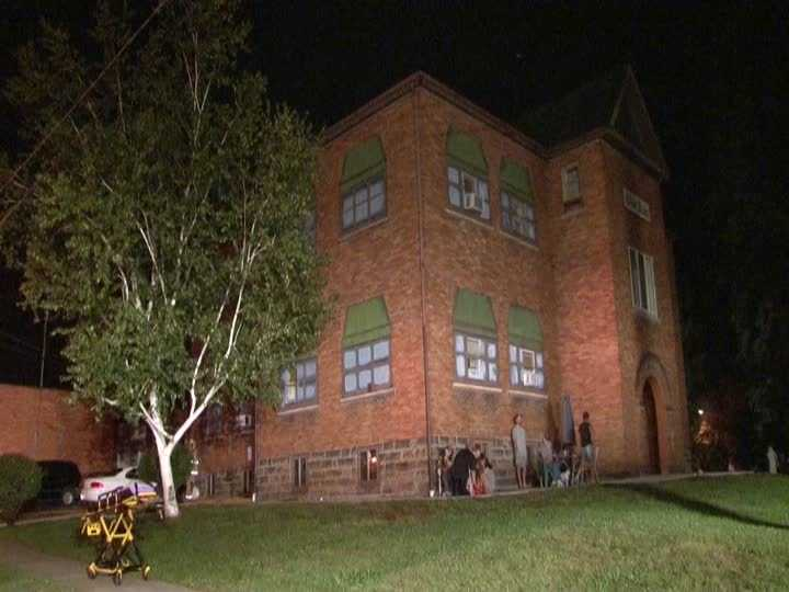 Twelve residents of an apartment complex in Lawrence County were evacuated early Thursday morning following a fire.