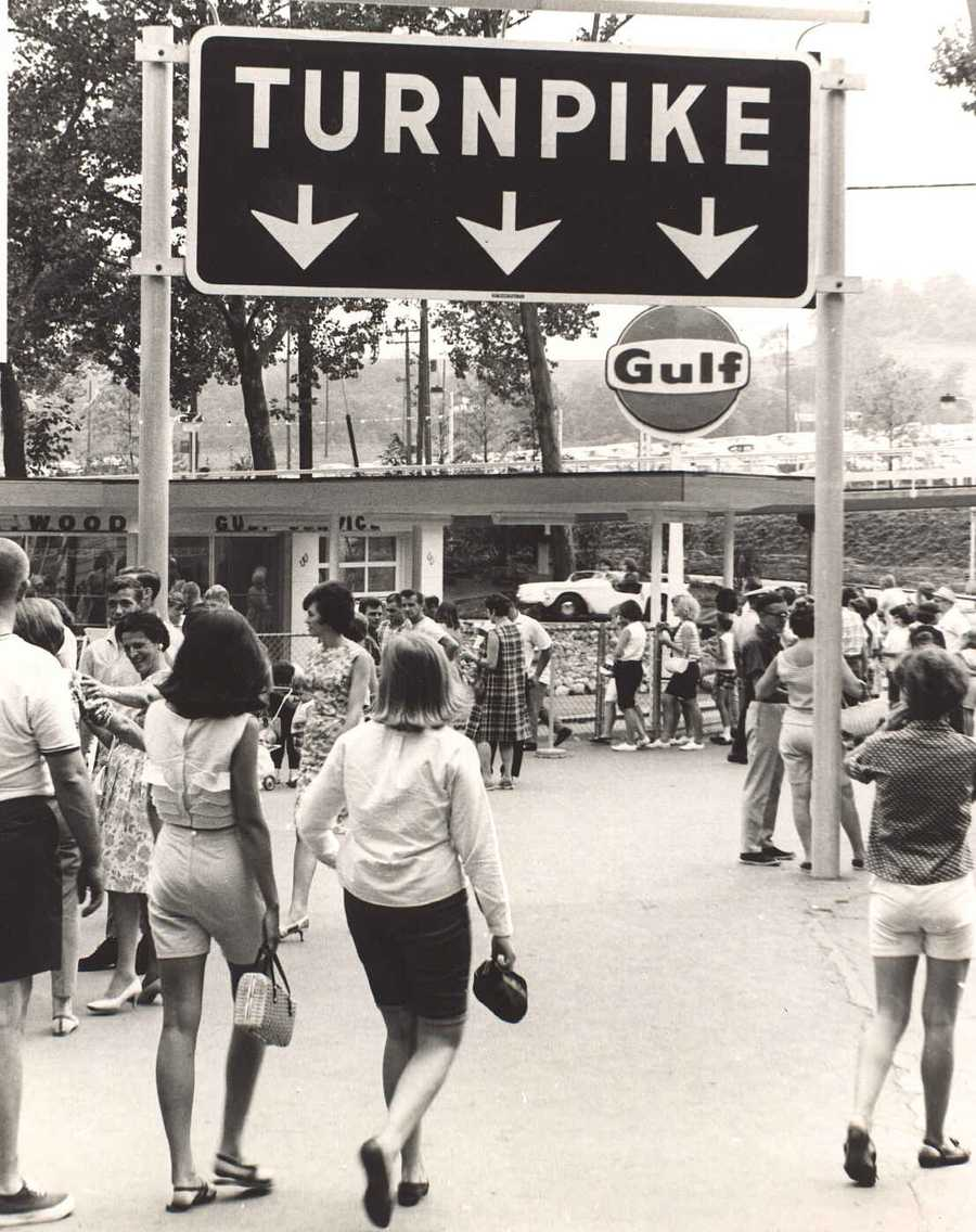 Remember the Kennywood Turnpike?  The ride, just to the right of the main entrance, was introduced in spring 1966.