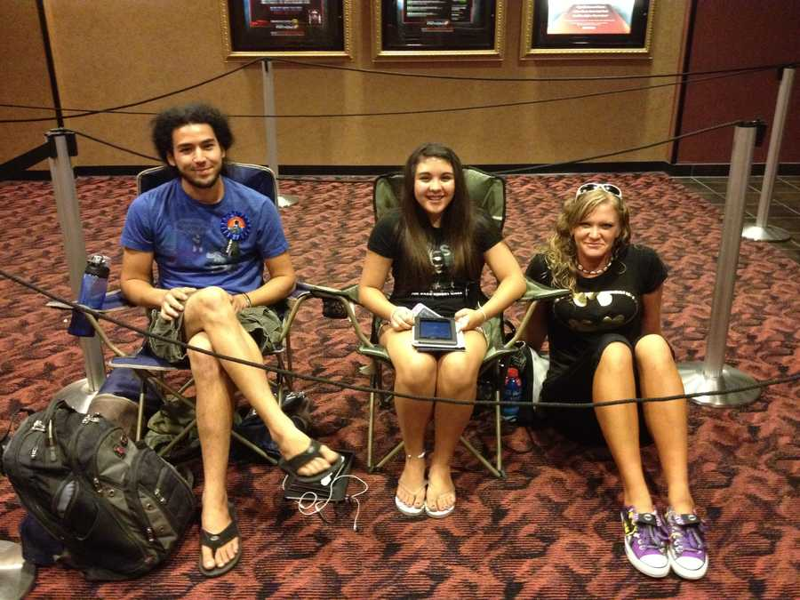 Fans began lining up at 3 p.m. at Cinemark at Pittsburgh Mills. It's one of the only local movie theaters with an IMAX screen.