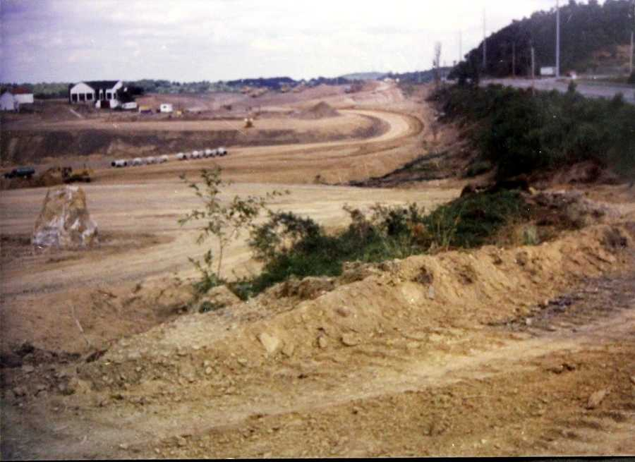 Land being excavated along Route 19&#x3B; it would later become an auto auction.