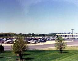 Photo of the auto auction off Route 19 in 1991.