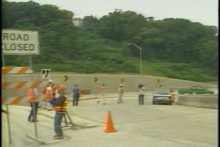 These photos are from August 1989, when a major section of Interstate 279 opened.