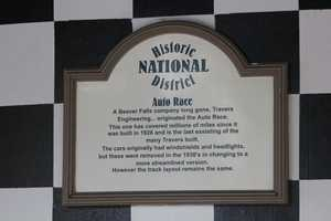 You'll find this historical plaque near the entrance to the ride.