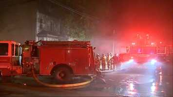 A young girl was pulled from a burning home in the East Liberty neighborhood of Pittsburgh early Tuesday morning.