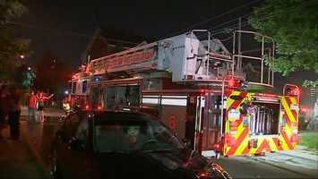The three alarm fire happened just before 3 a.m. Along the 5800 block of Rippey Street.