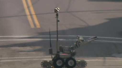 Shadyside Bomb squad robot