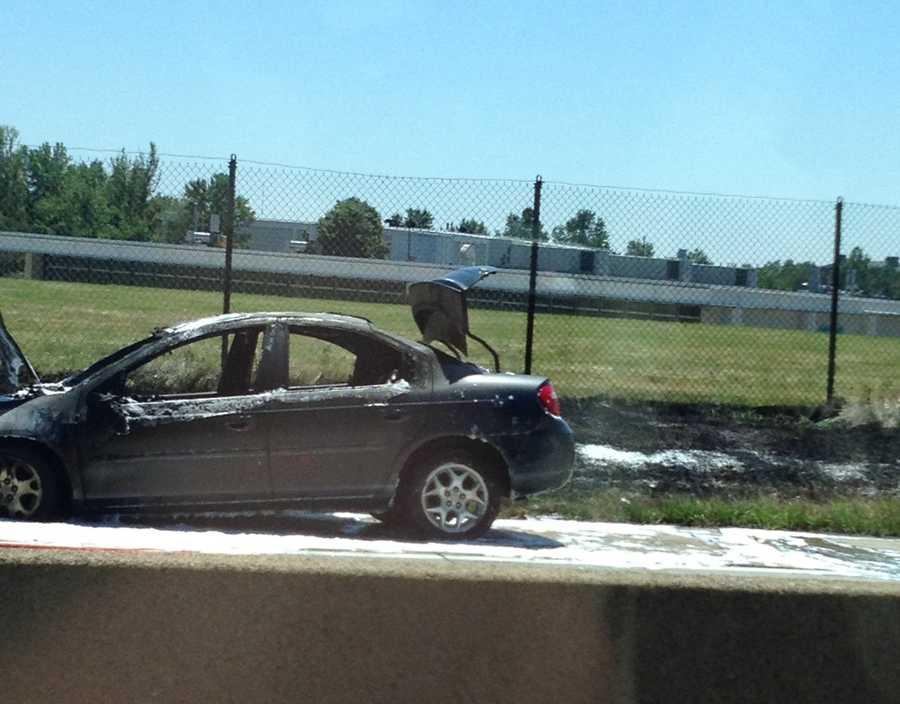 Car fire on Interstate 376 near Greensburg Pike