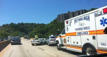 Multi-vehicle crash approaching Squirrel Hill Tunnel