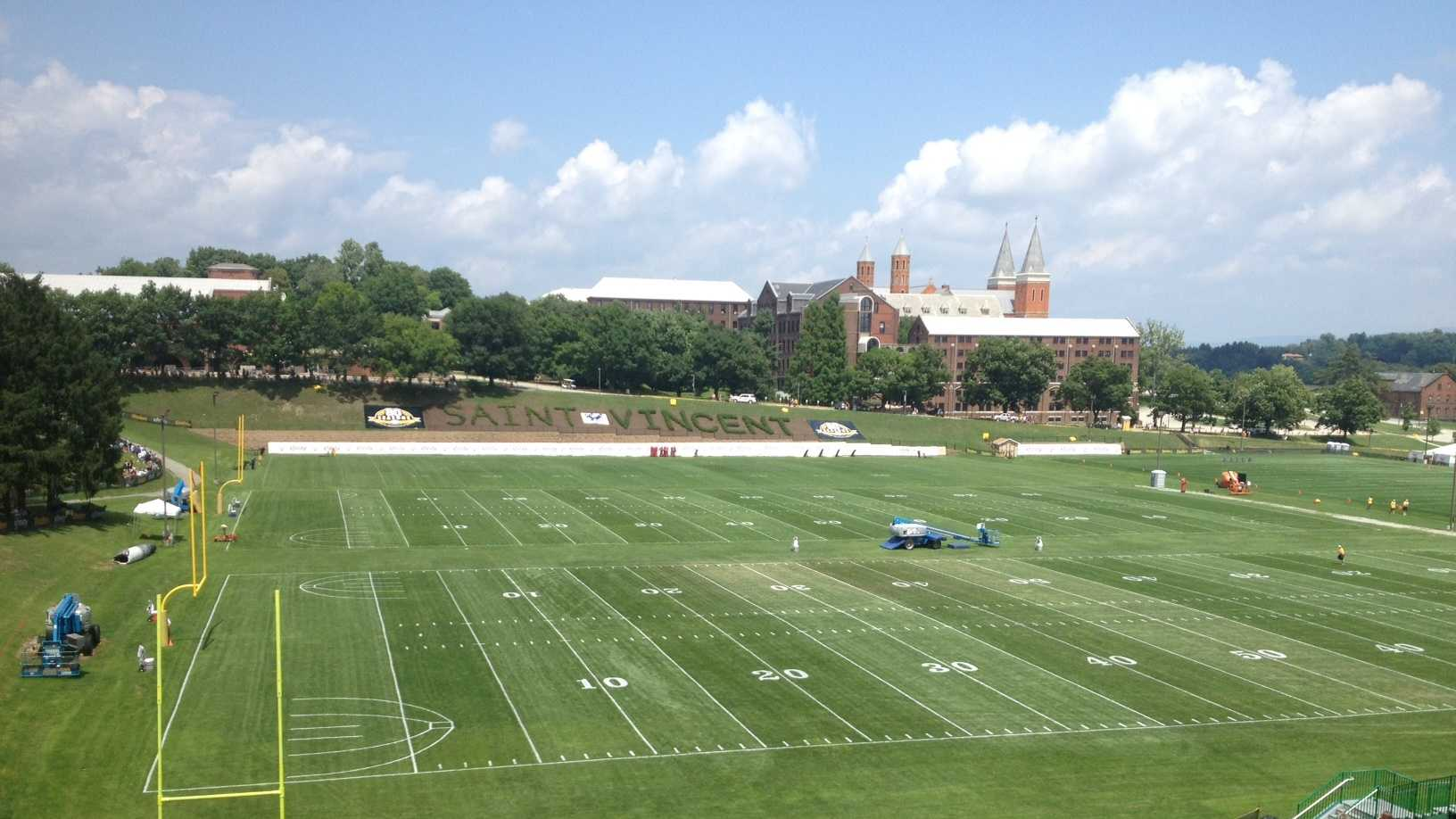 Chuck Noll Field at Saint Vincent College in Latrobe