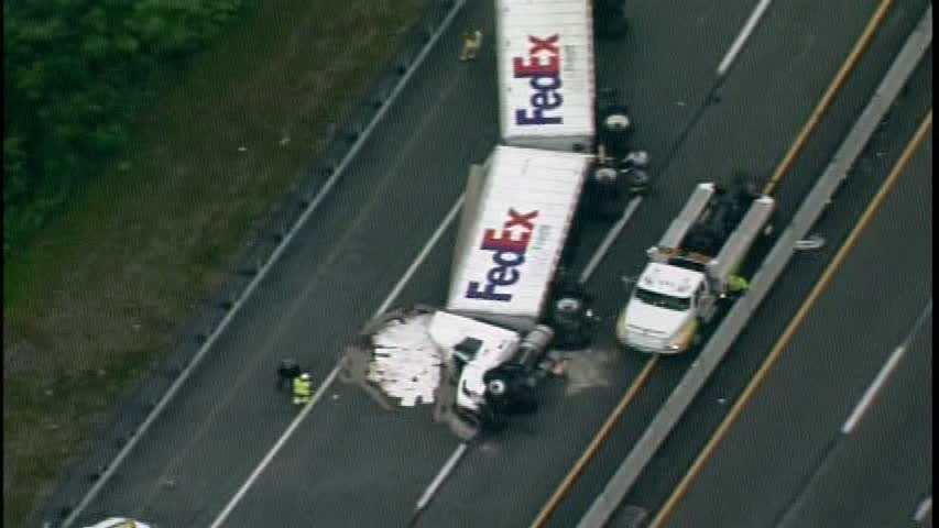 Tractor-trailer crash on Pennsylvania Turnpike
