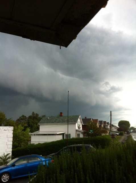Ominous skies in Richeyville