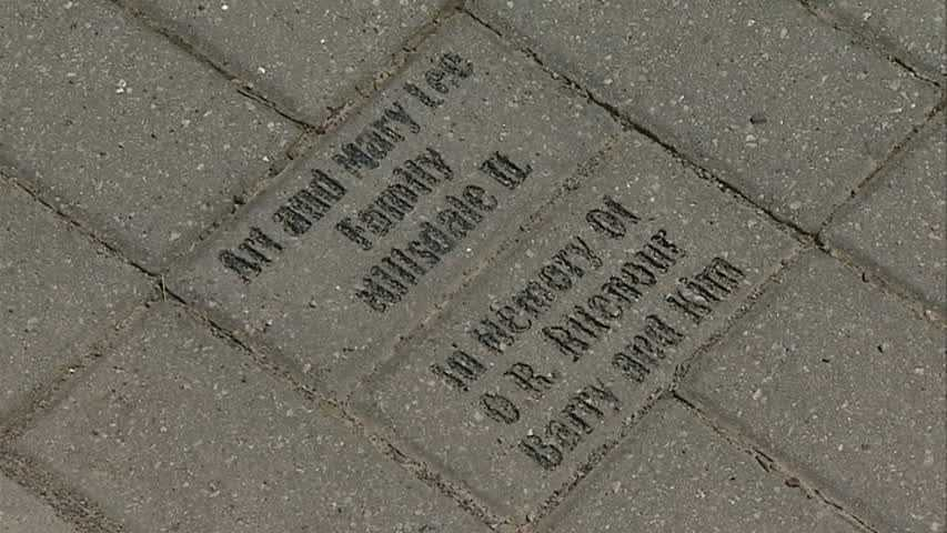 A brick dedicated to Rev. Barry Ritenour