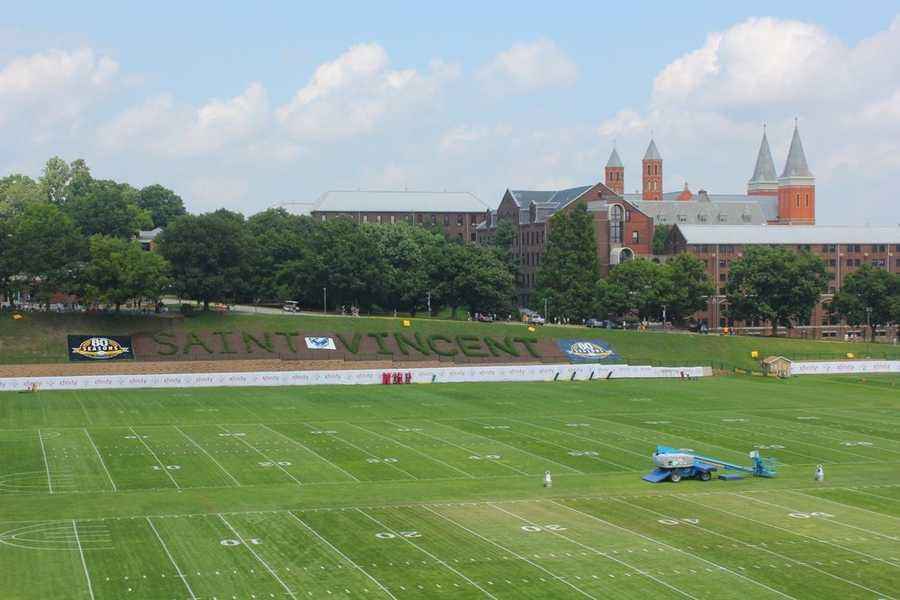 The Steelers begin their 80th Season at St. Vincent's College in Latrobe, Pa., holding their first public practice Friday.