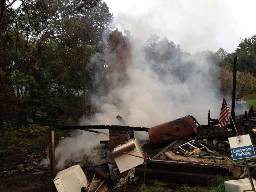 The house on Lake Lynn Road was a total loss.