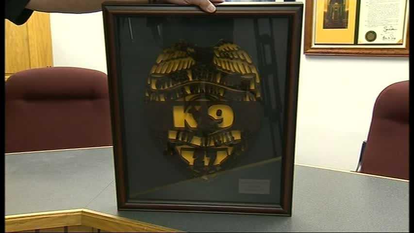 Officer Kotecki carving