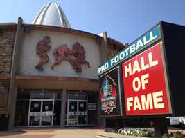 The Pro Football Hall of Fame in Canton, Ohio.