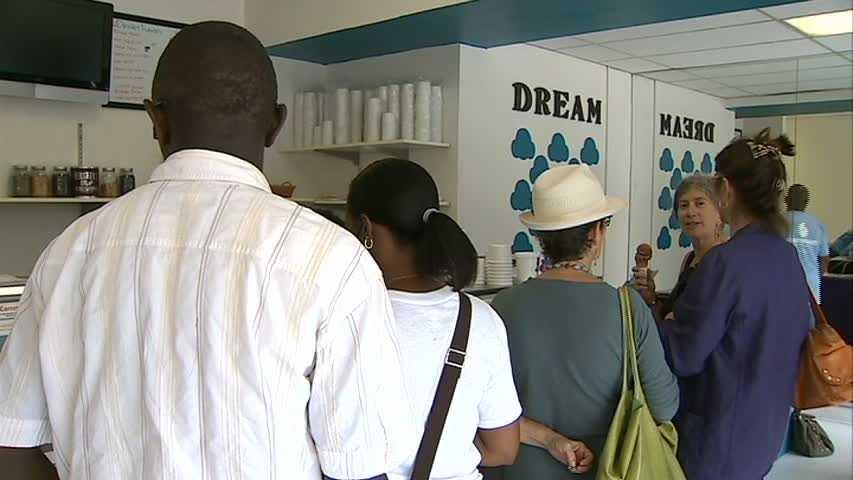 Inside the Dream Cream Ice Cream shop