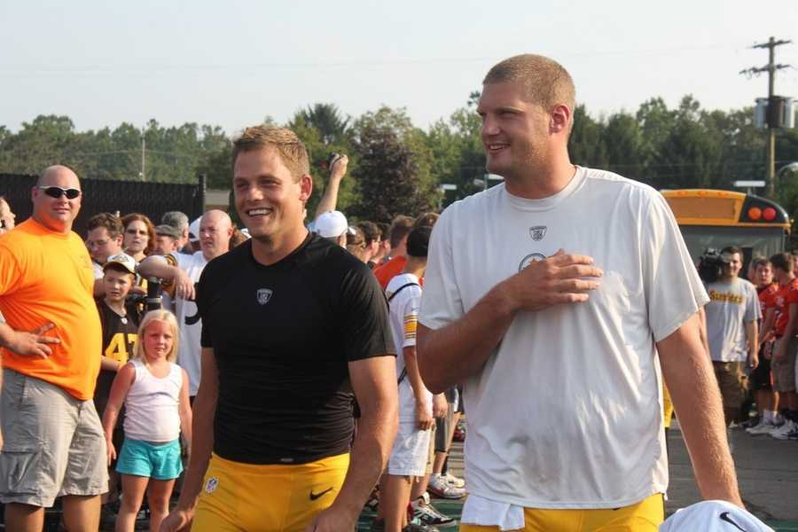 Field goal kicker Shaun Suisham (6), left, heads into the stadiumDid you take any photos at training camp? Share them with us by clicking here or e-mailing ulocal@wtae.com.  You can see viewer photos by clicking here.