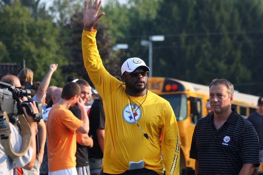 Steelers head coach Mike Tomlin enters the stadium.Did you take any photos at training camp? Share them with us by clicking here or e-mailing ulocal@wtae.com.  You can see viewer photos by clicking here.