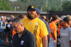 Brett Keisel (99) enters the stadium.Did you take any photos at training camp? Share them with us by clicking here or e-mailing ulocal@wtae.com.  You can see viewer photos by clicking here.