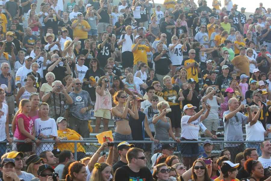 Thousands of Steelers fans spent Friday night at Latrobe Memorial Stadium for the annual Steelers Night Practice. It's a chance for the fans to get closer than ever to some of their favorite players.