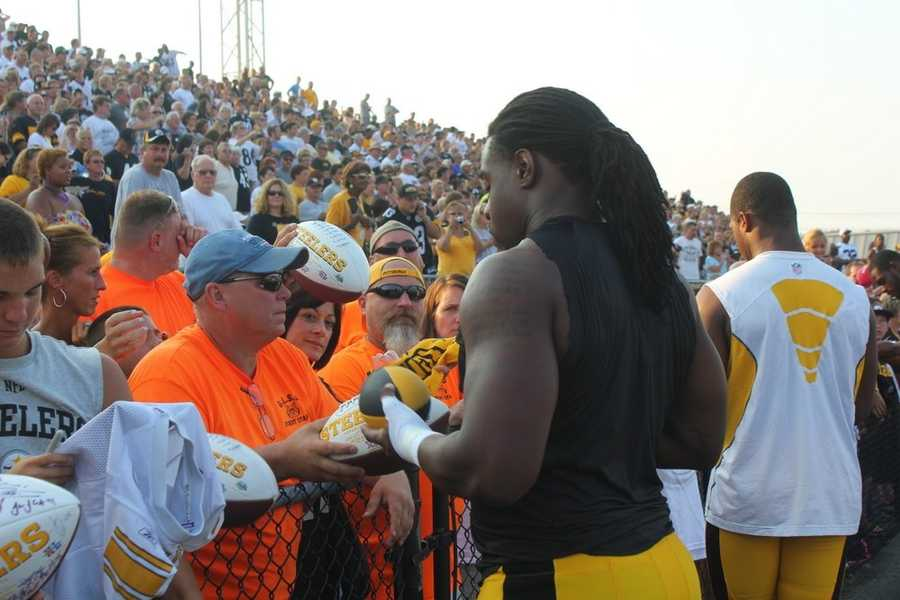 Steelers spend around 15 minutes signing autographs around the entire stadium.Did you take any photos at training camp? Share them with us by clicking here or e-mailing ulocal@wtae.com.  You can see viewer photos by clicking here.