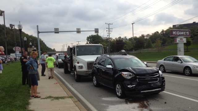 Crash on Business Rt. 22 in Monroeville