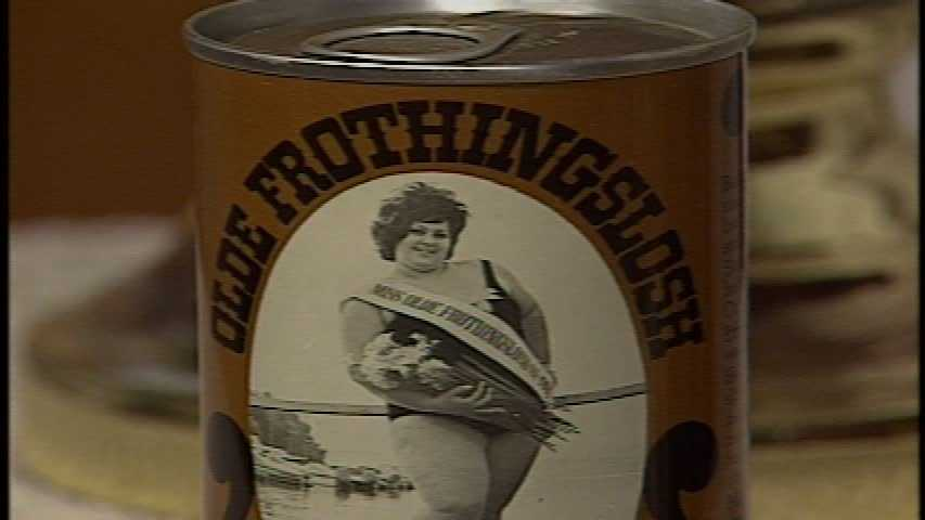Olde Frothingslosh beer can