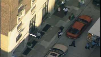 The baby was found with a woman at a building on Fourth Avenue downtown.