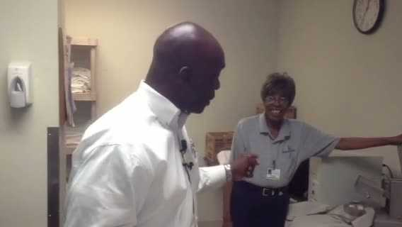 Channel 4 Action News' Sheldon Ingram with Nora Morant