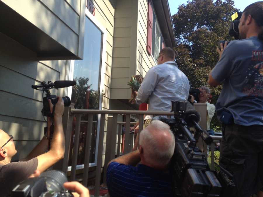Sgt. Joshua Caskey enters his new and improved home