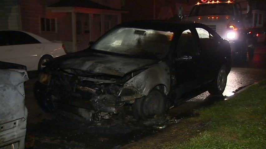 Two cars were gutted by fire in the middle of the night on Poplar Street in South Greensburg. Nobody was injured.