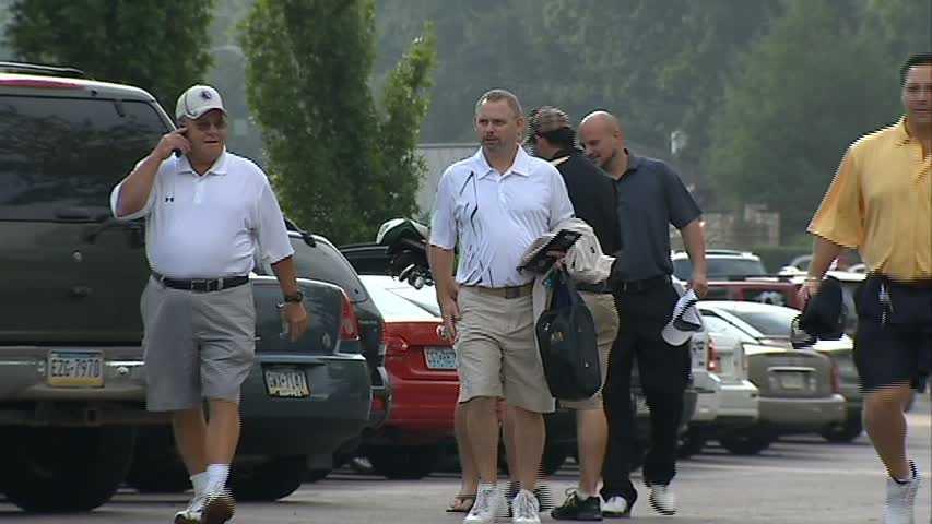 Scotty Bowman (far left)