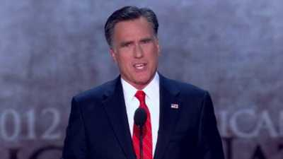 Romney accepting GOP nomination