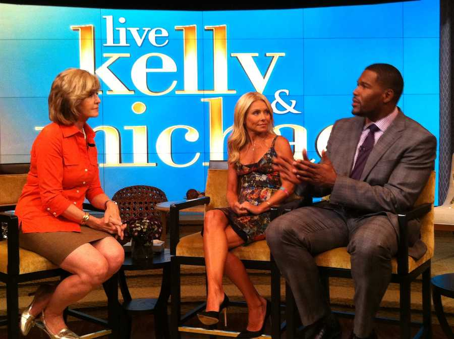 Sally Wiggin interviews Kelly Ripa and Michael Strahan.