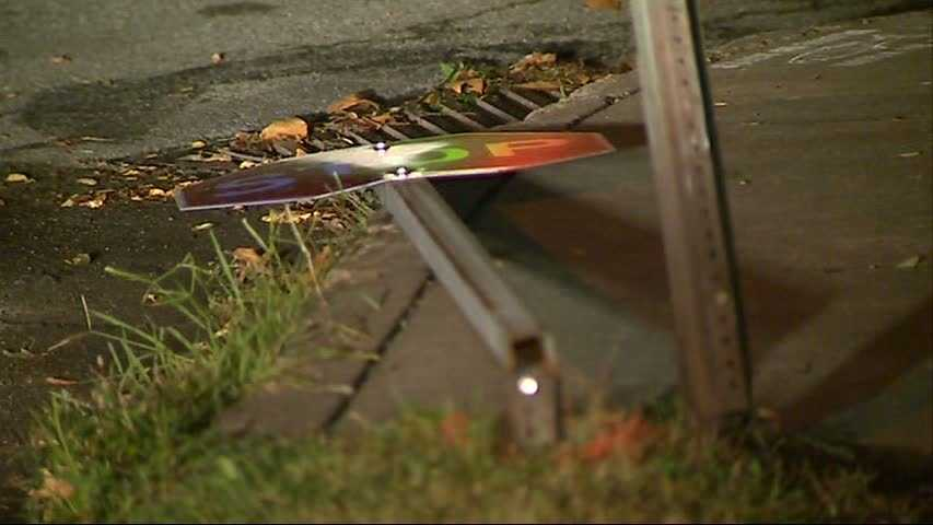 A bicyclist was hit by a car near the Highland Park reservoir Tuesday night.