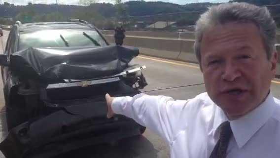 Bob Mayo at Route 65 crash