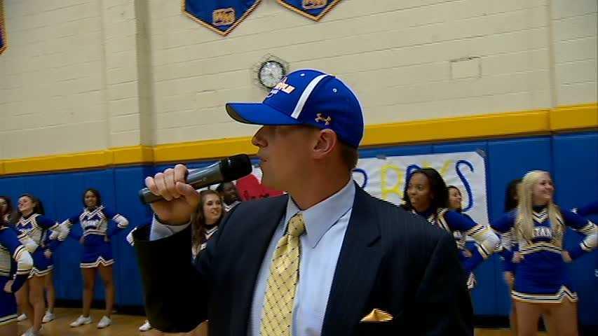 Action Sports' John Meyer sporting a West Mifflin Titans hat