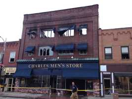 Charles Men's Store and apartments in Ambridge