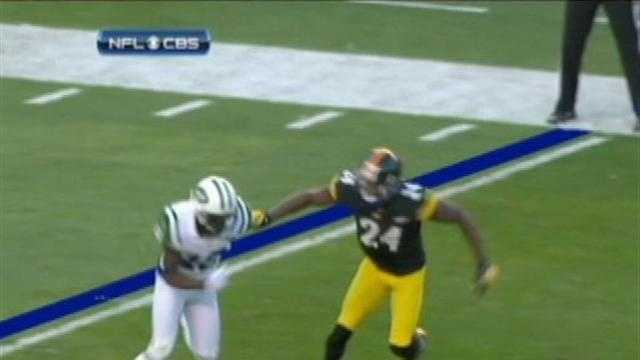 Ike Taylor was called for pass interference against the Jets.