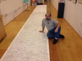 ToonSeum founder Joe Wos is attempting to enter the Guinness World Records for the largest hand-drawn maze.