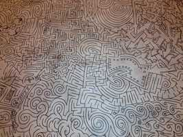 Once completed, the maze will be more than 4 feet high and 30 feet long