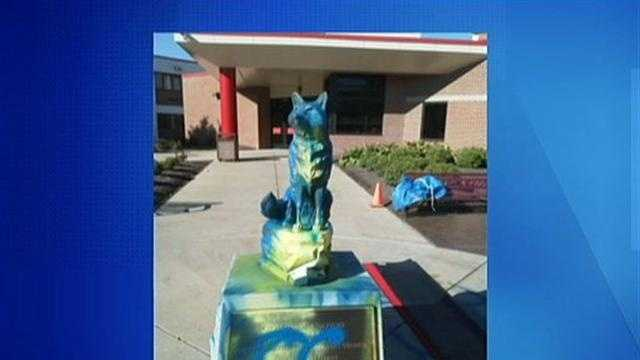The Fox Chapel Area High School mascot statue.