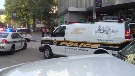 Pittsburgh police at Gateway Center