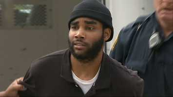 Klein Michael Thaxton arrives at Pittsburgh police headquarters