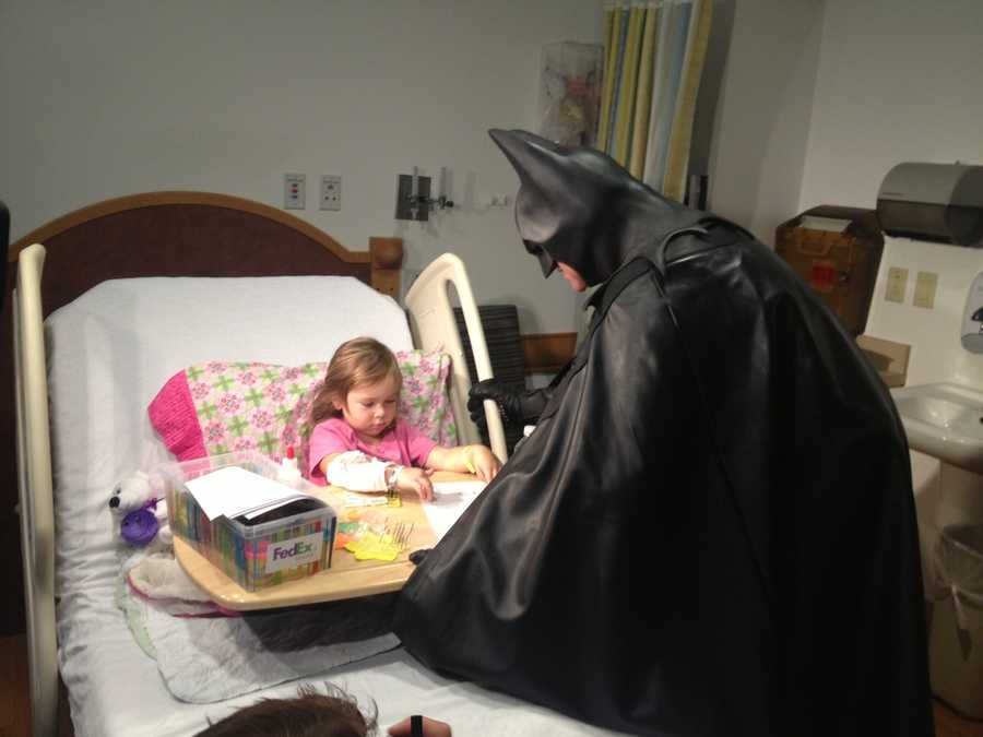 Batman visits hospital room